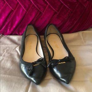 Prada Pointed Toe Flats